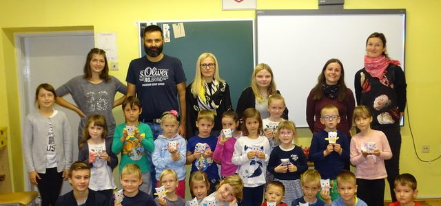 Sprejem prvošolčkov v Skupnost učencev šole OŠ Janka Ribiča Cezanjevci